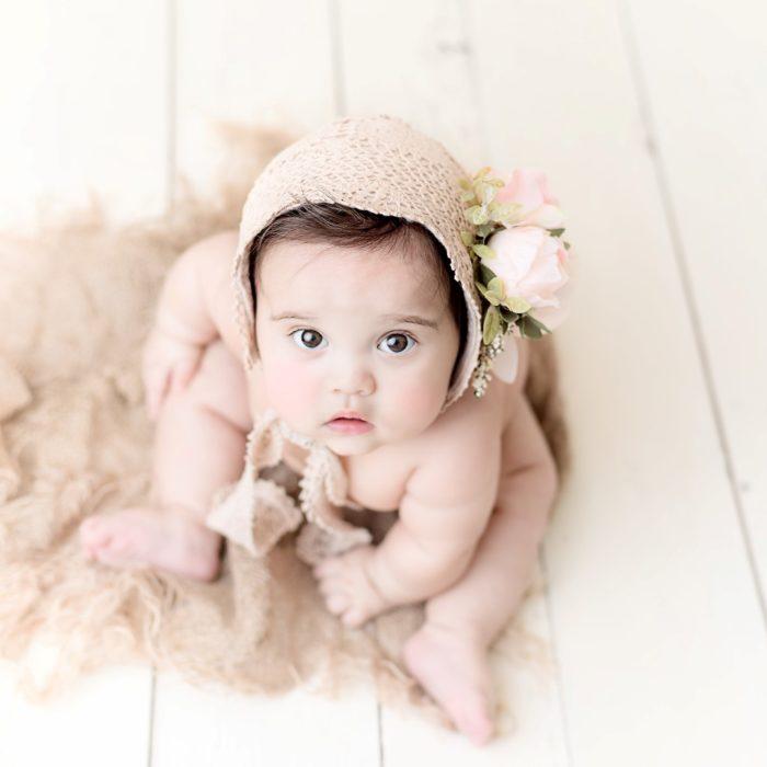 Jada baby milestone photography session in edmonton